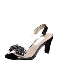 Sabatina - Czarne sandały damskie szpilki SABATINA 1014-2. Kolor: czarny. Materiał: skóra. Obcas: na szpilce. Styl: klasyczny. Wysokość obcasa: średni