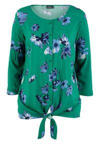 Zielona bluzka bonprix w kwiaty