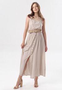 Born2be - Jasnobeżowa Sukienka Cherinoe. Kolor: beżowy