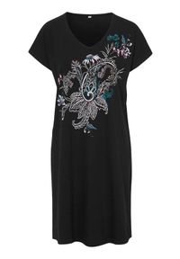 Cellbes Wzorzysta koszula nocna 2 Pack wzór paisley Czarny female czarny 38/40. Kolor: czarny. Materiał: materiał. Długość: do kolan. Wzór: paisley