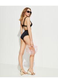 KIINI - Top od bikini Chacha. Kolor: czarny. Materiał: poliester, materiał, nylon
