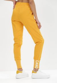 Born2be - Żółte Spodnie Dresowe Eriphishia. Kolor: żółty. Materiał: dresówka