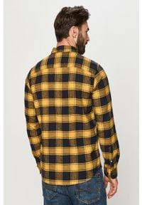 Żółta koszula Jack & Jones casualowa, na co dzień