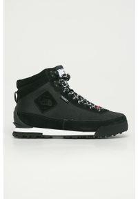 Czarne buty trekkingowe The North Face na sznurówki, z okrągłym noskiem, z cholewką, Primaloft