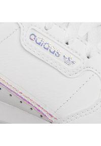 Adidas - Buty adidas - Continental 80 C FU6668 Ftwwht/Ftwwht/Cblack. Zapięcie: pasek. Kolor: biały. Materiał: skóra, materiał. Szerokość cholewki: normalna. Wzór: aplikacja. Sezon: lato. Styl: klasyczny, sportowy, retro