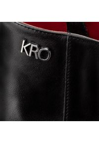 Czarne botki Karino z aplikacjami, na obcasie, na średnim obcasie #7