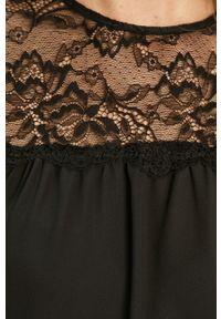 Czarna bluzka Jacqueline de Yong casualowa, krótka, na co dzień