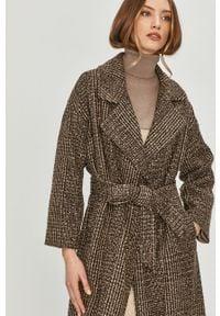 Brązowy płaszcz Answear Lab bez kaptura, wakacyjny