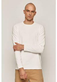 Biała koszulka z długim rękawem medicine gładkie