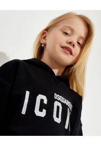 DSQUARED2 KIDS - Sukienka dresowa z logo 4-14 lat. Typ kołnierza: kaptur. Kolor: czarny. Materiał: dresówka. Długość rękawa: długi rękaw. Sezon: lato #3