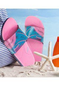 LANO - Klapki damskie basenowe Lano KL-3-2269-1 Różowe. Okazja: na plażę. Kolor: różowy. Materiał: guma. Obcas: na obcasie. Wysokość obcasa: niski