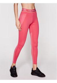 Calvin Klein Performance Legginsy Full Lenght Tight 00GWS1L650 Różowy Slim Fit. Kolor: różowy