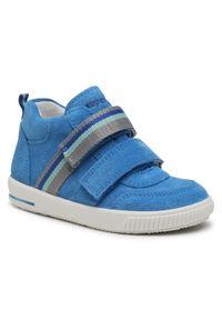 Superdry - Sneakersy SUPERDRY - 1-000354-8000 S Blau. Kolor: niebieski. Materiał: skóra, zamsz. Szerokość cholewki: normalna
