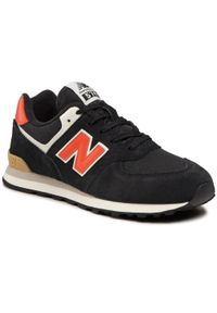 New Balance - Sneakersy NEW BALANCE - GC574ML2 Czarny. Okazja: na uczelnię, na spacer, na co dzień. Kolor: czarny. Materiał: skóra, zamsz, materiał. Szerokość cholewki: normalna. Styl: casual