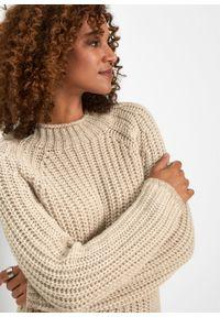 Beżowy sweter bonprix krótki