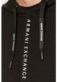 Czarna bluza rozpinana Armani Exchange casualowa, na co dzień, z kapturem