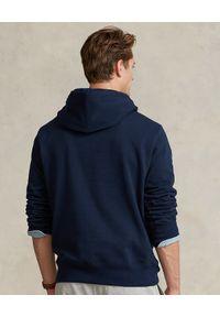 Ralph Lauren - RALPH LAUREN - Granatowa bluza z kapturem logo. Typ kołnierza: kaptur. Kolor: niebieski. Materiał: bawełna. Długość rękawa: długi rękaw. Długość: długie. Wzór: aplikacja