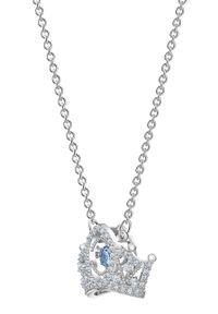 Srebrny naszyjnik Swarovski z aplikacjami, metalowy, z kryształem