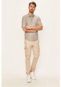 Szara koszula Blend długa, z klasycznym kołnierzykiem #5