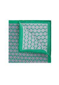 Zielona poszetka Lancerto w geometryczne wzory