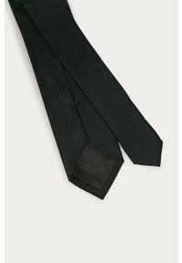 Czarny krawat Calvin Klein gładki