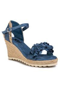 Niebieskie sandały Xti casualowe, z aplikacjami, na co dzień