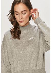 Szara bluza Nike Sportswear na co dzień, bez kaptura