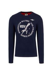 Aeronautica Militare - T-shirt AERONAUTICA MILITARE. Materiał: bawełna, prążkowany. Długość rękawa: długi rękaw. Długość: długie. Wzór: moro, nadruk. Styl: militarny
