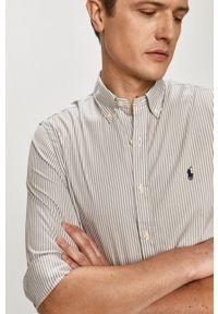 Polo Ralph Lauren - Koszula. Typ kołnierza: polo. Kolor: szary. Długość rękawa: długi rękaw. Długość: długie