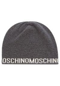Szara czapka MOSCHINO