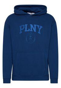 PLNY Textylia Bluza Stanford PT-BL-KH-00005 Granatowy Regular Fit. Kolor: niebieski