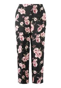 Cellbes Spodnie Czarny w kwiaty female czarny/ze wzorem 40. Kolor: czarny. Materiał: tkanina. Wzór: kwiaty. Styl: wizytowy, elegancki