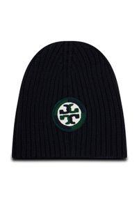 Czarna czapka zimowa Tory Burch