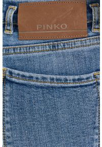 Pinko - Jeansy Susan. Kolor: niebieski