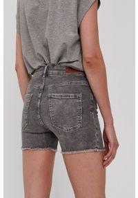 only - Only - Szorty jeansowe. Kolor: szary. Materiał: jeans