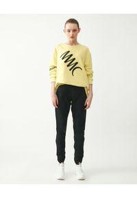 MMC STUDIO - Czarne spodnie Knit. Kolor: czarny. Materiał: dzianina, bawełna. Styl: sportowy