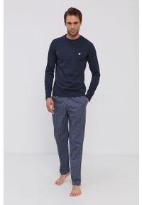 Emporio Armani Underwear - Piżama. Kolor: niebieski. Długość: długie