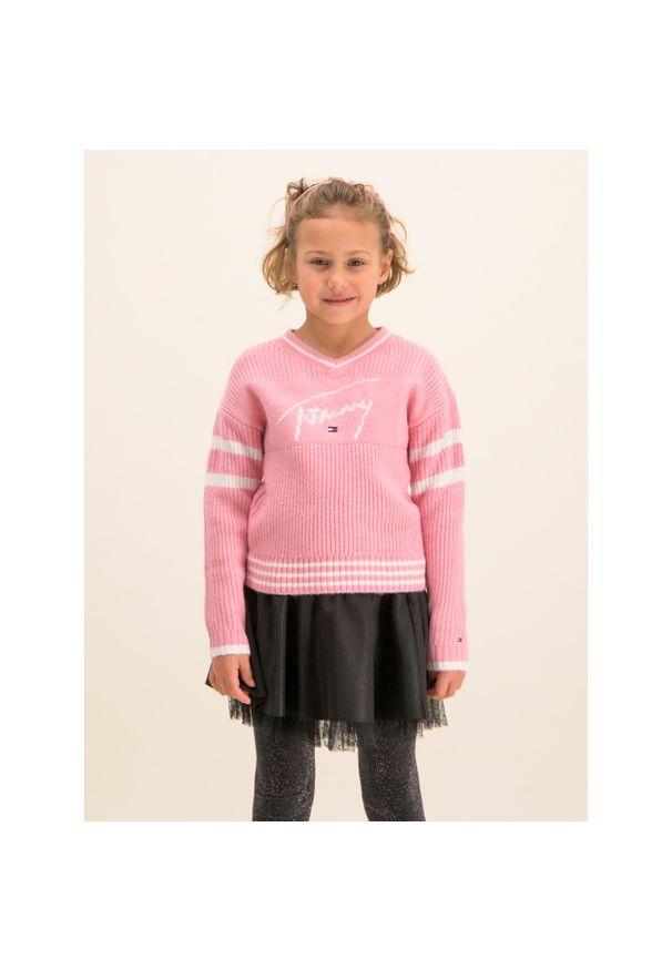 Różowy sweter TOMMY HILFIGER