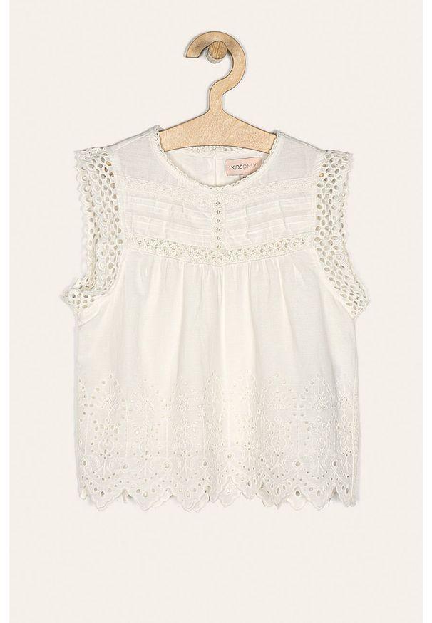 Biała bluzka Kids Only na co dzień, casualowa, krótka