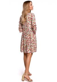 MOE - Rozkloszowana krótka sukienka oversize na lato. Materiał: tkanina. Sezon: lato. Typ sukienki: oversize. Styl: klasyczny. Długość: mini