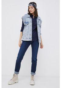Cross Jeans - Koszula. Okazja: na co dzień. Kolor: niebieski. Materiał: tkanina. Wzór: gładki. Styl: casual