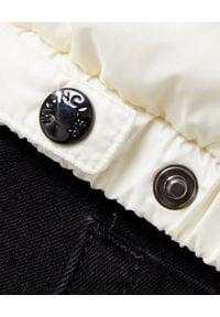 MONCLER - Biała kamizelka Glyco. Kolor: biały. Materiał: wełna, dzianina, materiał
