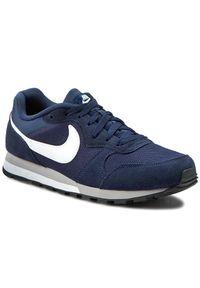 Niebieskie buty sportowe Nike z cholewką, na co dzień, na sznurówki, Nike MD Runner