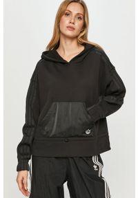 adidas Originals - Bluza bawełniana. Okazja: na co dzień. Typ kołnierza: kaptur. Kolor: czarny. Materiał: bawełna. Długość rękawa: długi rękaw. Długość: długie. Styl: casual