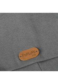 Czapka dziecięca z bawełny PaMaMi - Ciemnoszary. Kolor: szary. Materiał: bawełna, elastan. Sezon: wiosna