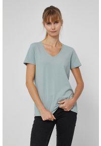 medicine - Medicine - T-shirt Basic. Kolor: turkusowy. Materiał: bawełna, dzianina. Wzór: gładki