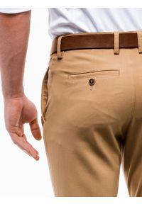 Brązowe spodnie Ombre Clothing eleganckie