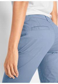 Niebieskie spodnie bonprix na co dzień, z obniżonym stanem, casualowe, w kwiaty