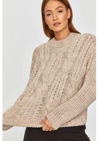 Beżowy sweter Answear Lab z długim rękawem, wakacyjny