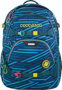 Niebieski plecak COOCAZOO z motywem zwierzęcym